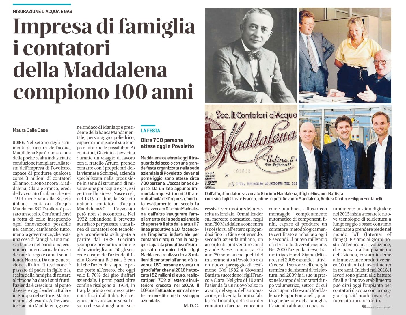 Article Maddalena celebrates 100 years