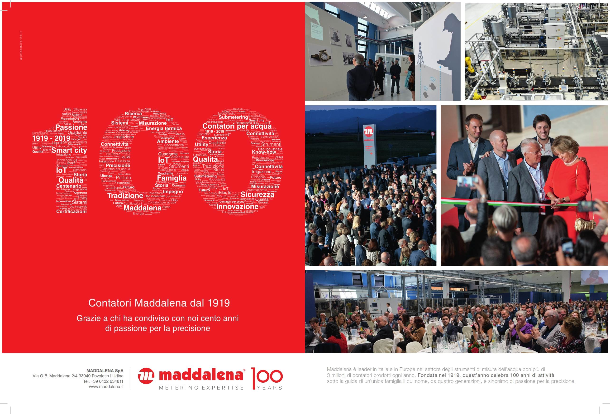 advert maddalena celebrates a century of activity
