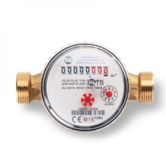 Maddalena single jet water meter residential use
